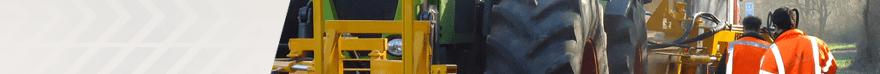 Bermonderhoud - Claas Xerion 3300 VC met bermfrees - Loonbedrijf Schuring & Zn.
